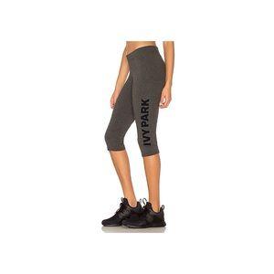 Ivy Park Casual Crop Legging in Grey & White Logo